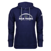 Adidas Climawarm Navy Team Issue Hoodie-Blue Tigers Football Half Ball