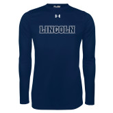 Under Armour Navy Long Sleeve Tech Tee-Lincoln