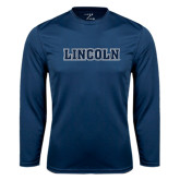 Syntrel Performance Navy Longsleeve Shirt-Lincoln