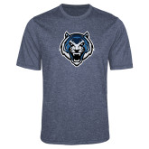 Performance Navy Heather Contender Tee-Tiger Head