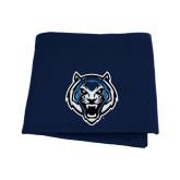 Navy Sweatshirt Blanket-Tiger Head