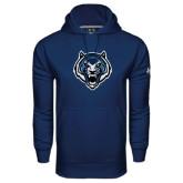 Under Armour Navy Performance Sweats Team Hoodie-Tiger Head
