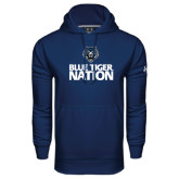 Under Armour Navy Performance Sweats Team Hoodie-Blue Tiger Nation