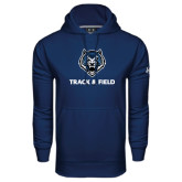 Under Armour Navy Performance Sweats Team Hoodie-Track & Field