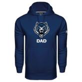 Under Armour Navy Performance Sweats Team Hoodie-Dad