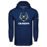 Under Armour Navy Performance Sweats Team Hoodie-Grandpa