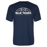 Syntrel Performance Navy Tee-Blue Tigers Basketball Half Ball