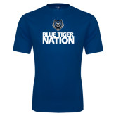Syntrel Performance Navy Tee-Blue Tiger Nation