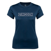 Ladies Syntrel Performance Navy Tee-Lincoln