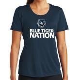 Ladies Syntrel Performance Navy Tee-Blue Tiger Nation