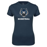 Ladies Syntrel Performance Navy Tee-Basketball
