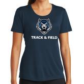 Ladies Syntrel Performance Navy Tee-Track & Field
