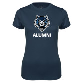 Ladies Syntrel Performance Navy Tee-Alumni