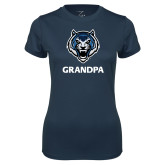 Ladies Syntrel Performance Navy Tee-Grandpa