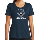 Ladies Syntrel Performance Navy Tee-Grandpa