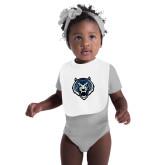 White Baby Bib-Tiger Head