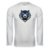 Syntrel Performance White Longsleeve Shirt-Tiger Head