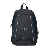 Impulse Black Backpack-Tiger Head