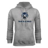 Grey Fleece Hoodie-Track & Field