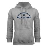 Grey Fleece Hoodie-Blue Tigers Football Half Ball