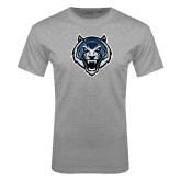 Grey T Shirt-Tiger Head Distressed