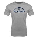 Grey T Shirt-Blue Tigers Football Half Ball