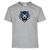Youth Grey T-Shirt-Tiger Head