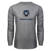 Grey Long Sleeve T Shirt-Track & Field