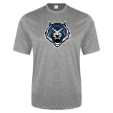 Performance Grey Heather Contender Tee-Tiger Head