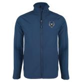 Navy Softshell Jacket-Tiger Head
