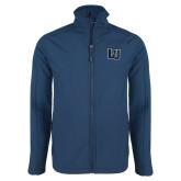 Navy Softshell Jacket-Interlocking LU