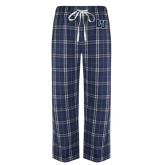 Navy/White Flannel Pajama Pant-Interlocking LU