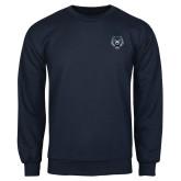 Navy Fleece Crew-Tiger Head