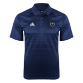 Adidas Climalite Navy Jaquard Select Polo-Tiger Head