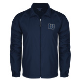 Full Zip Navy Wind Jacket-Interlocking LU