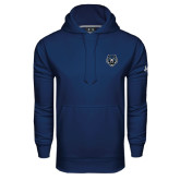 Under Armour Navy Performance Sweats Team Hoodie-Tiger Head