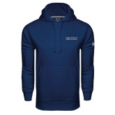 Under Armour Navy Performance Sweats Team Hoodie-Lincoln