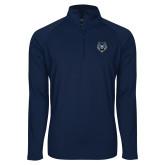 Sport Wick Stretch Navy 1/2 Zip Pullover-Tiger Head