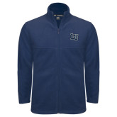Fleece Full Zip Navy Jacket-Interlocking LU