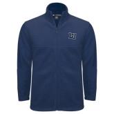 Fleece Full Zip Navy Jacket-Interlocking LU