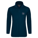 Ladies Fleece Full Zip Navy Jacket-Interlocking LU