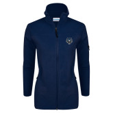 Columbia Ladies Full Zip Navy Fleece Jacket-Tiger Head