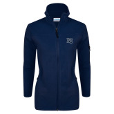 Columbia Ladies Full Zip Navy Fleece Jacket-Interlocking LU