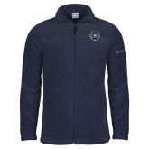 Columbia Full Zip Navy Fleece Jacket-Tiger Head