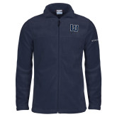 Columbia Full Zip Navy Fleece Jacket-Interlocking LU