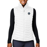 Columbia Lake 22 Ladies White Vest-Tiger Head