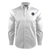 Red House White Dobby Long Sleeve Shirt-Tiger Head