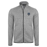 Grey Heather Fleece Jacket-Tiger Head