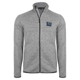 Grey Heather Fleece Jacket-Interlocking LU