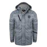 Grey Brushstroke Print Insulated Jacket-Tiger Head